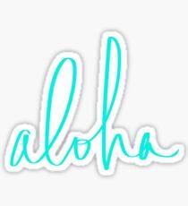 Aloha Tropical Turquoise Sticker