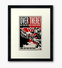 "INGSOC ""Over There"" 1984 Propaganda Poster Framed Print"