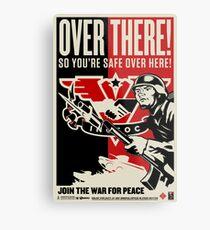 "INGSOC ""Over There"" 1984 Propaganda Poster Metal Print"