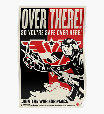 "INGSOC ""Over There"" 1984 Propaganda Poster Poster"