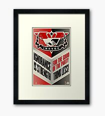 INGSOC Ignorance Is Strength Framed Print