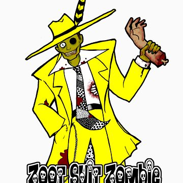 Zoot Suit Zombie by ZombieRodent