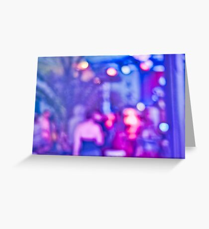 Abstract #13 - Purple People Greeting Card