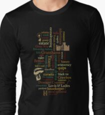 Downton Abbey Word Mosaic Long Sleeve T-Shirt