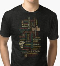 Downton Abbey Word Mosaic Tri-blend T-Shirt