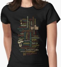 Downton Abbey Word Mosaic Women's Fitted T-Shirt