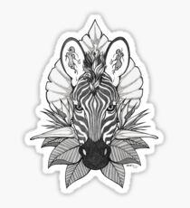 Zebra & Jungle Leaves Sticker