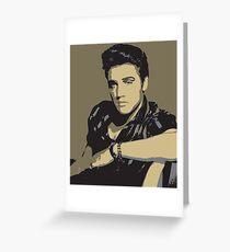 Elvis Presley - Pop Art Portrait Greeting Card