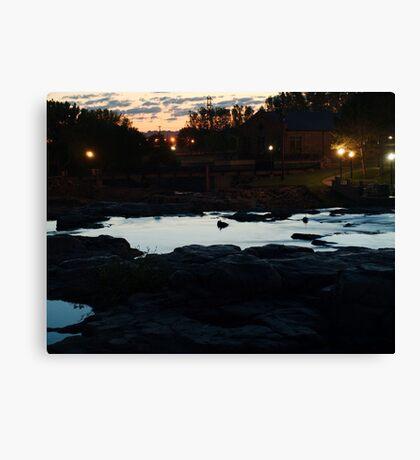 Dawn Above The Sioux Falls Canvas Print