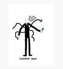 Lender man Photographic Print