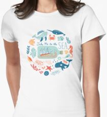 Take Me to the Sea Women's Fitted T-Shirt