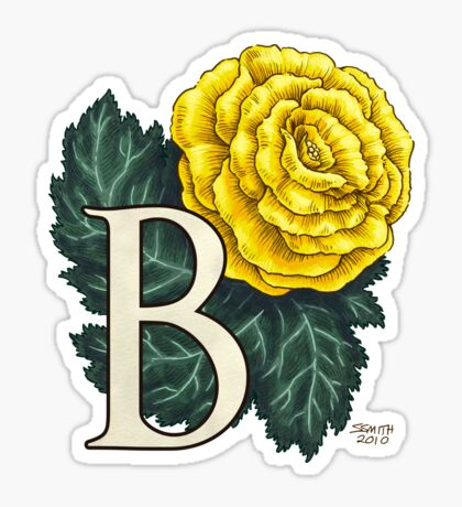 B is for Begonia - full image Sticker