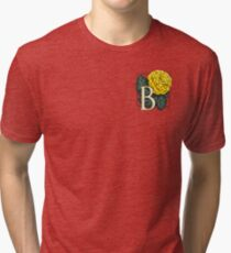 B is for Begonia - patch Tri-blend T-Shirt