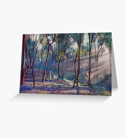 Rays Across the Gully Greeting Card