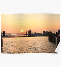 Sunrise Over The East River Poster
