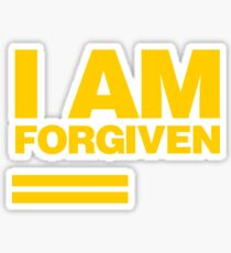 I AM FORGIVEN (ROYAL YELLOW) Sticker