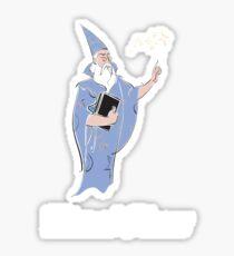 Wizard Please! Sticker