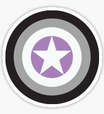 Captain Asexual Sticker