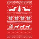 Dachshunds Christmas Sweater Pattern by Jenn Inashvili