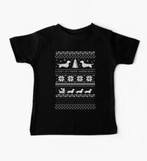 Dachshunds Christmas Sweater Pattern Baby Tee