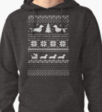 Dachshunds Christmas Sweater Pattern Pullover Hoodie