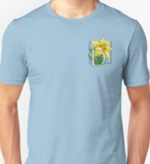 D is for Daffodil - patch Unisex T-Shirt