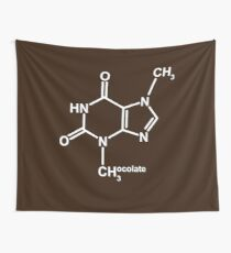 Theobromine Molecule - Chocolate Wall Tapestry