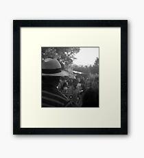panama hat Framed Print