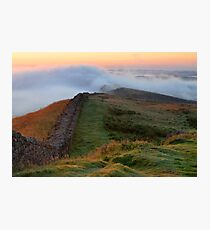 Winshields Crag on Hadrian's Wall Photographic Print