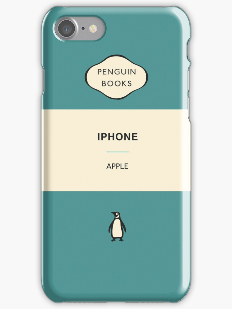 Iphone Penguin Classic Case - Aqua by Simon Westlake
