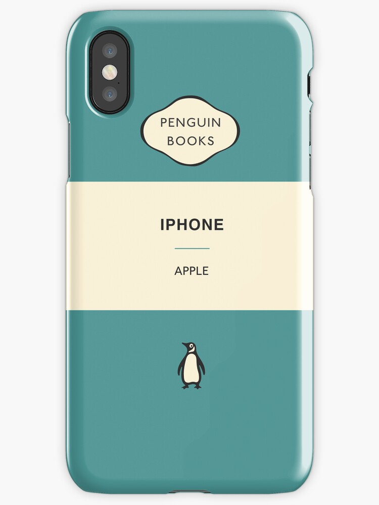 Penguin Book Cover Iphone Case : Quot iphone penguin classic case aqua cases covers
