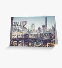7 Train and Silvercup Studios Greeting Card