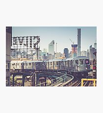 7 Train and Silvercup Studios Photographic Print