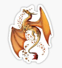 Dragon of Autumn Sticker