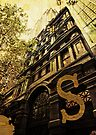 Grungy Melbourne Australia Alphabet Letter S Collins Street by Beverly Claire Kaiya