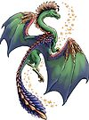 """""""Dragon of Summer"""" floating version  by Stephanie Smith"""