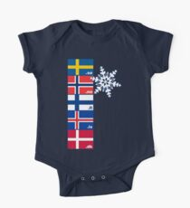 Nordic Cross Flags One Piece - Short Sleeve