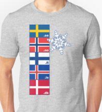 Nordic Cross Flags Unisex T-Shirt