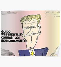 Caricature de Guido WESTERWELLE Poster