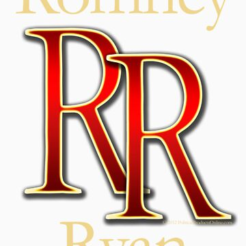 RR Romney Ryan Luxury Look T-Shirt by CuteNComfy