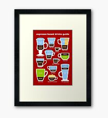 Espresso Coffee Drinks Guide Framed Print