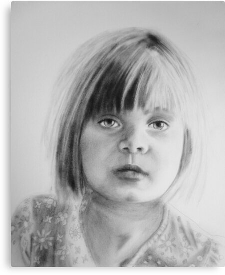 Charlotte, oil dry brush portrait by Sandrine Pelissier