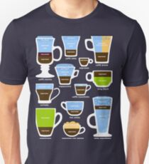 Espresso-Based Drinks Guide Unisex T-Shirt
