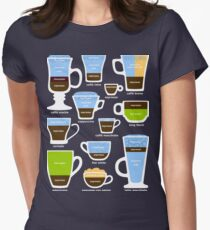 Espresso-Based Drinks Guide Women's Fitted T-Shirt