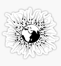 Overpopulation - Save the Planet Sticker