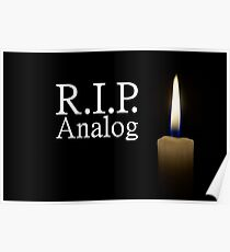 candle and R.I.P. analog Poster