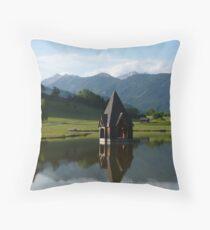 """Church Spire""  Ranten, Austria Throw Pillow"