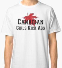 Canada Canadian Girls Kick Ass Women's T-Shirt Classic T-Shirt