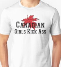 Canada Canadian Girls Kick Ass Women's T-Shirt Unisex T-Shirt
