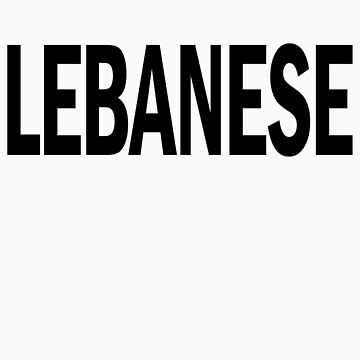 lebanese. by J-something